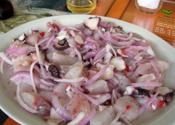 Ceviche from a nearby Mexican Restaurant