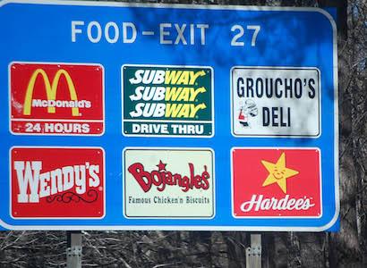 How Many Fast Food Restaurants Near Me